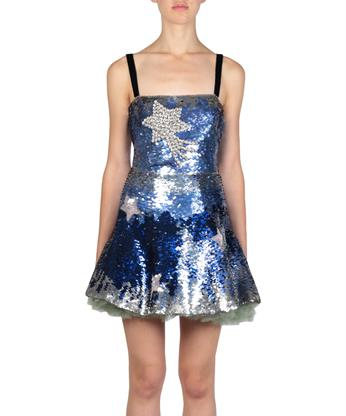 Valentino Silks All-over sequins silk dress