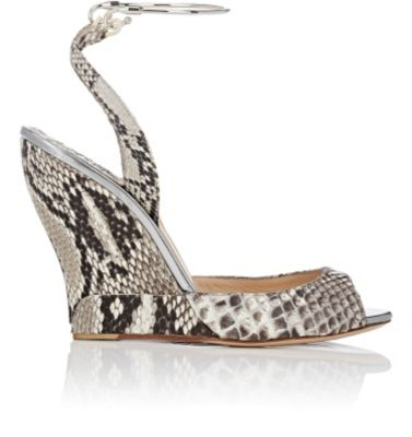 Paul Andrew Delphi Python Wedge Sandals