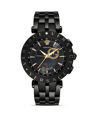 Race GMT Alarm Stainless Steel and Black PVD Watch, 46mm