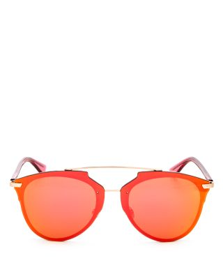 Reflected Prism Mirrored Sunglasses, 63mm