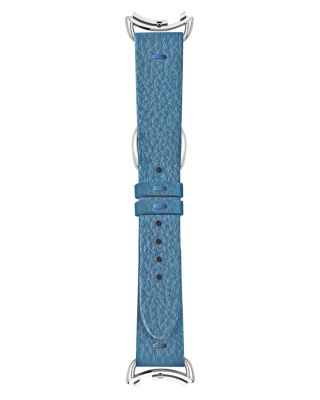 SELLERIA BLUE LEATHER WATCH STRAP, 18MM