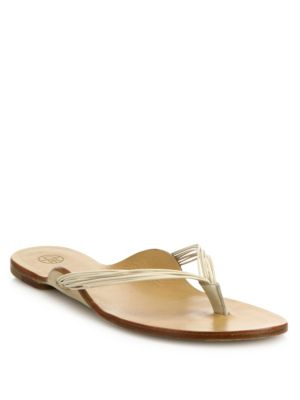 The Row Leathers Casablanca Strappy Leather Thong Sandals