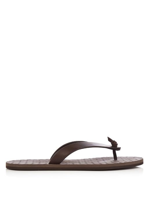 BOTTEGA VENETA Leather flip-flops