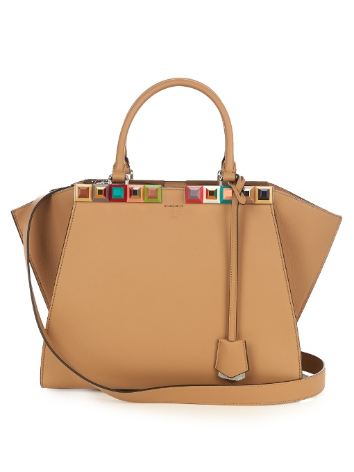 3Jours embellished leather tote
