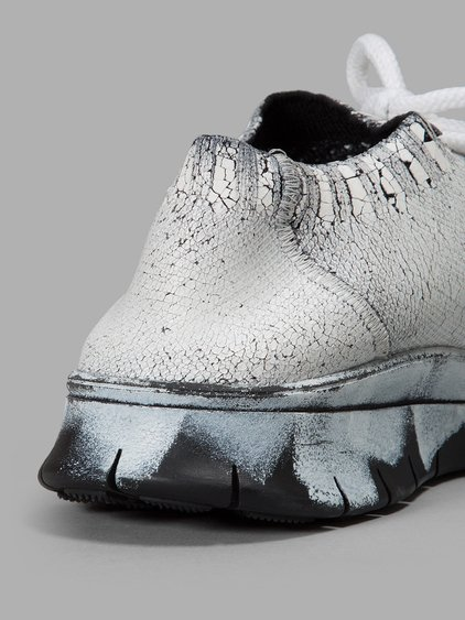 MAISON MARTIN MARGIELA Cracked Sponge Painted Sneakers