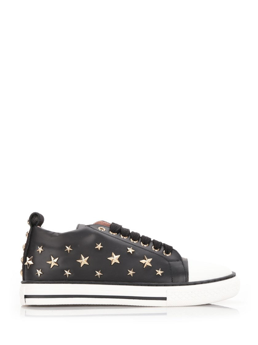 Red Valentino Leathers stars studded sneakers