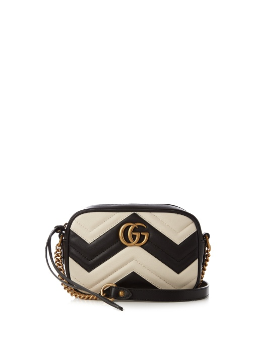 Gucci Leathers GG Marmont mini quilted-leather cross-body bag