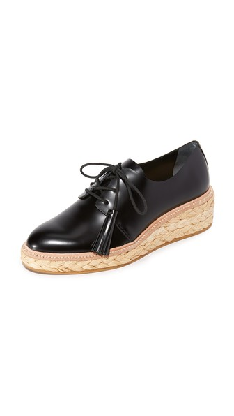 CALLIE SPAZZOLATO LEATHER ESPADRILLE OXFORDS