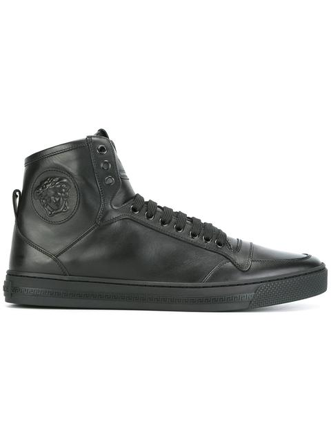MEDUSA SMOOTH LEATHER HIGH TOP SNEAKERS