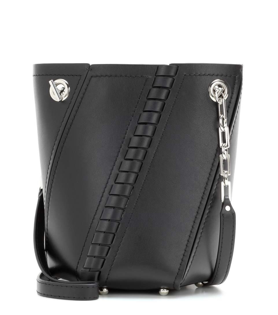 Proenza Schouler Leathers Mini Hex leather bucket bag