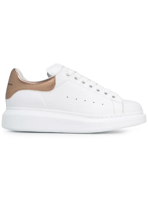 50fba6f19e3ca Alexander Mcqueen Metallic-Trimmed Leather Exaggerated-Sole Sneakers In  White