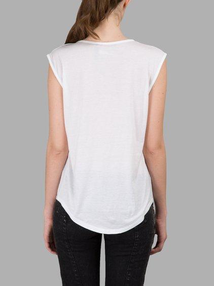 BALMAIN Logo Cotton Jersey Sleeveless Top, White