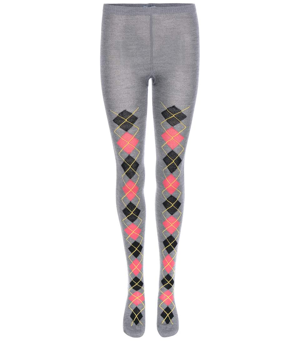 ARGYLE WOOL TIGHTS