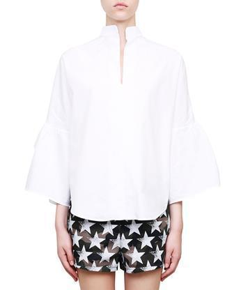 Valentino Cottons Ruflled cotton shirt