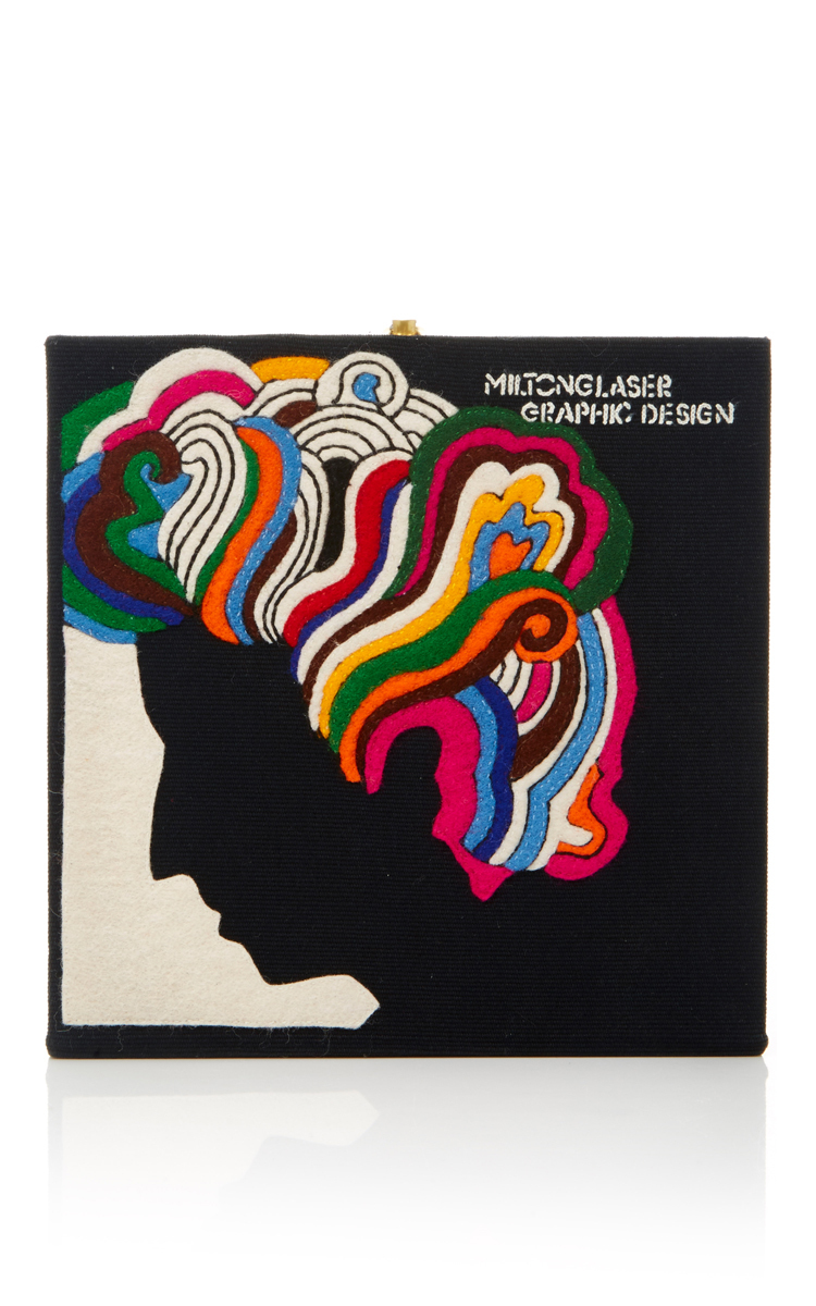 Turn On, Tune In, Drop Out Milton Glaser Square Clutch
