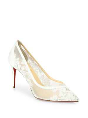 Christian Louboutin Leathers Neo Floral Lace Pumps