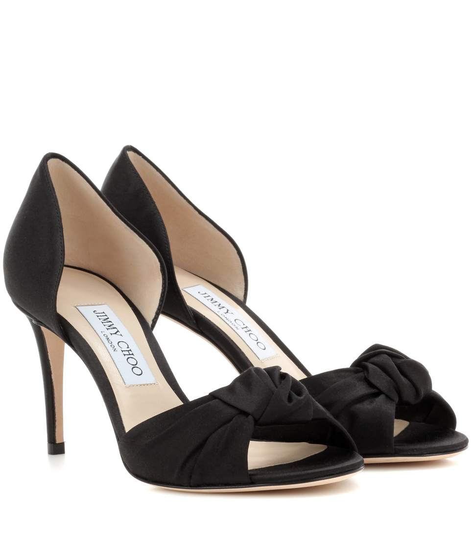 Jimmy Choo Leathers Kitty 85 satin sandals