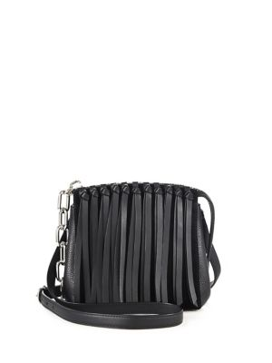 Alexander Wang Canvases Attica Fringed Leather Crossbody Bag
