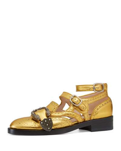 Queencore Dionysus leather loafers