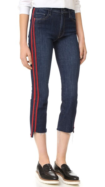 INSIDER STEP CROP FRAY JEANS IN SPEED RACER