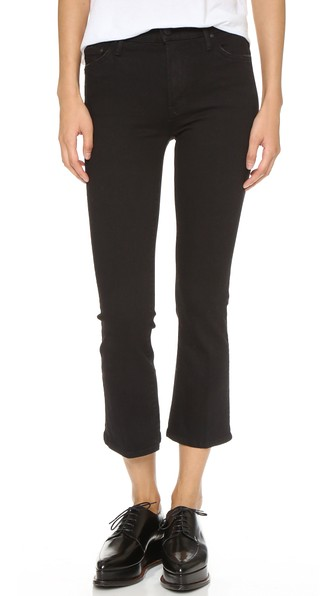 THE HUSTLER HIGH-WAISTED CROPPED BOOTCUT JEANS