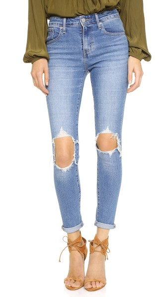distressed skinny jeans - Blue Levi's How Much Release Dates Online Really MrRYpu0PNS