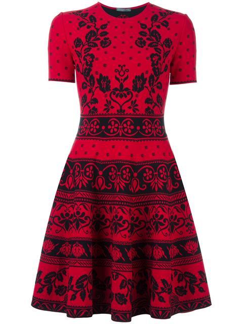 Alexander Mcqueen Knits jacquard knit mini dress