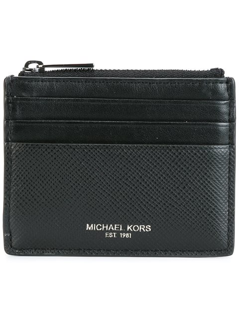 Michael Kors Collection Top Zipped Flat Cardholder - Black