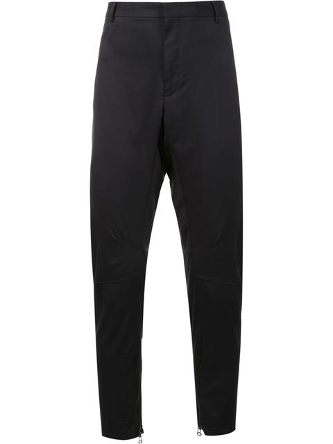 tapered biker trousers