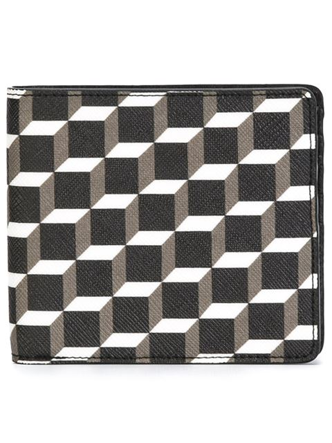 'Perspective Cube' print bifold wallet