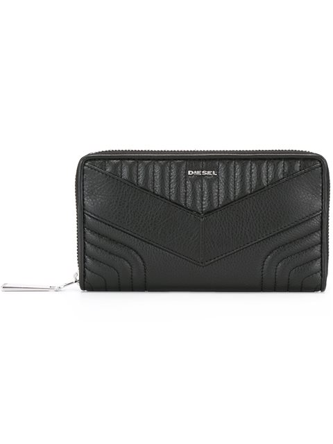 stitched zip purse