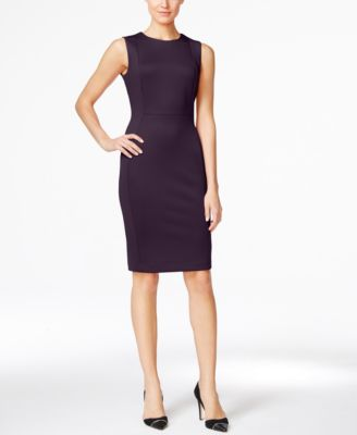 SCUBA CREPE SHEATH DRESS, REGULAR & PETITE SIZES
