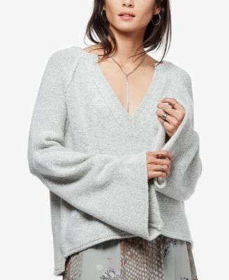 Free People Wools Free People Lovely Lines Bell-Sleeve Sweater