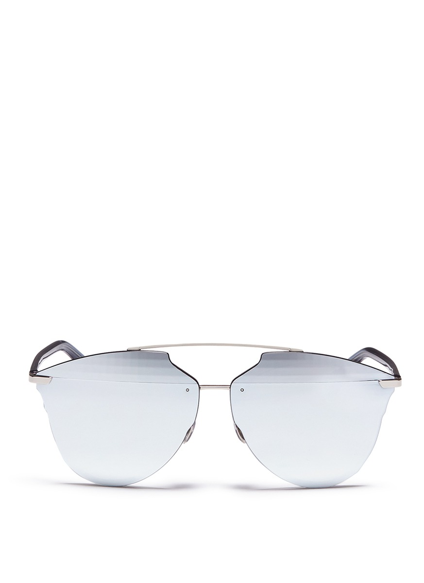 'DIOR REFLECTED' PRISM EFFECT MOUNTED MIRROR LENS SUNGLASSES