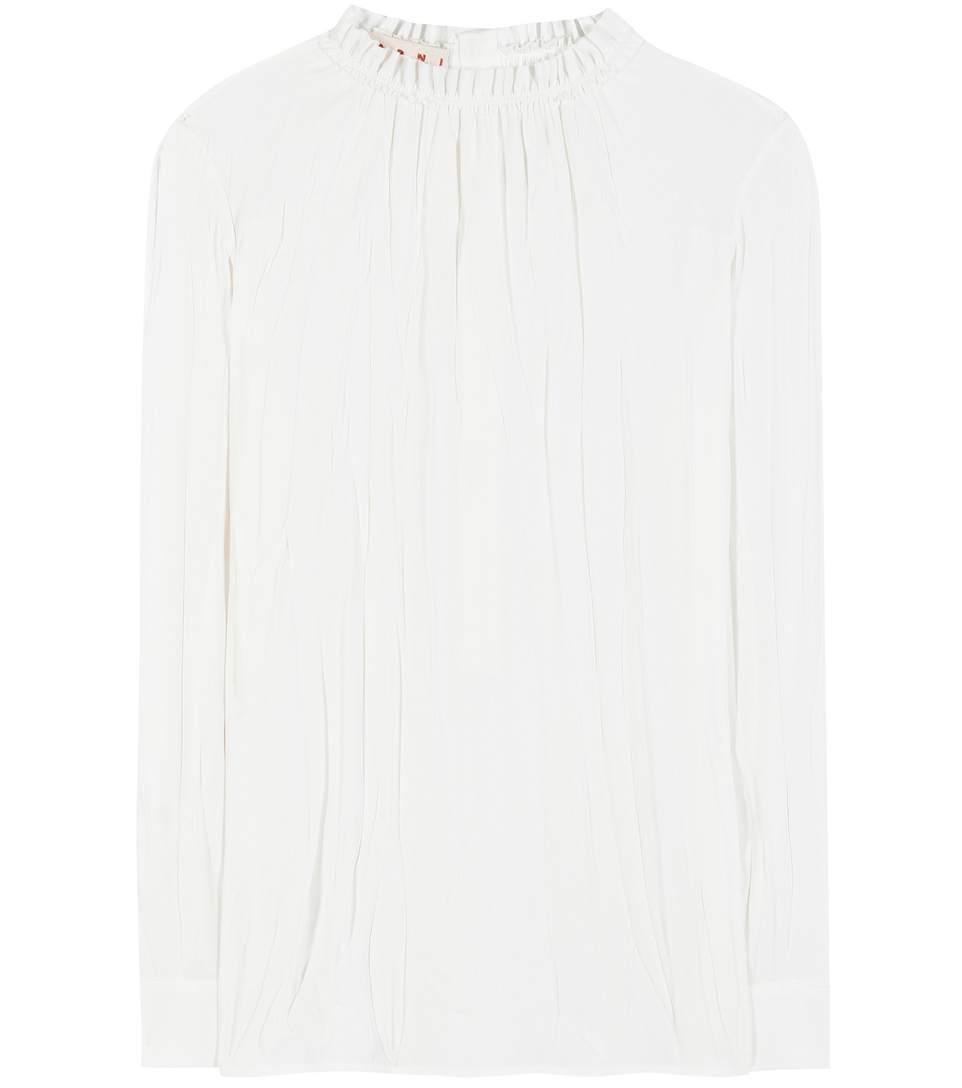 Marni Blouses Crêpe blouse