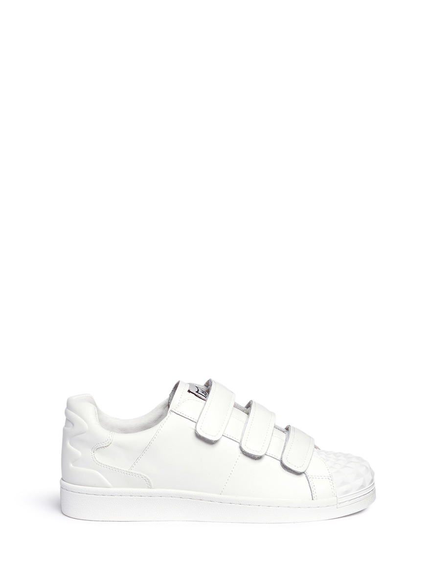 'Club' rubber prism leather sneakers