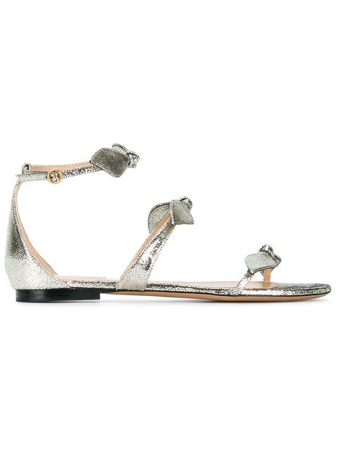 Chloé Leathers SILVER MIKE LEATHER SANDALS