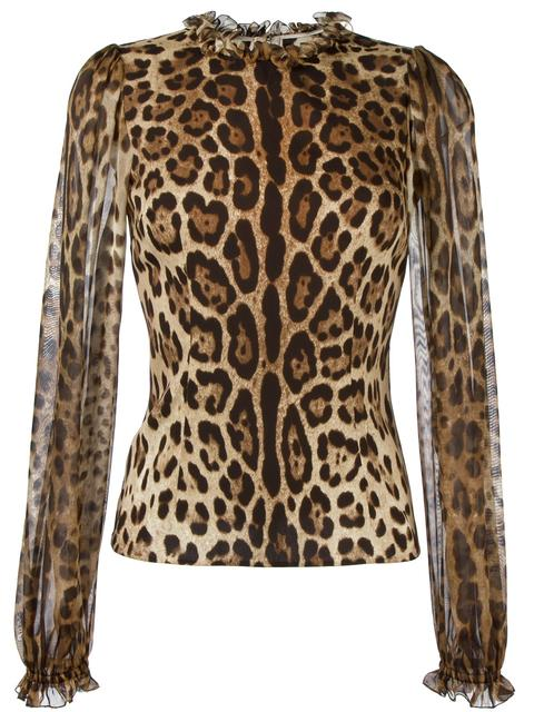 Dolce & Gabbana Silks leopard print blouse
