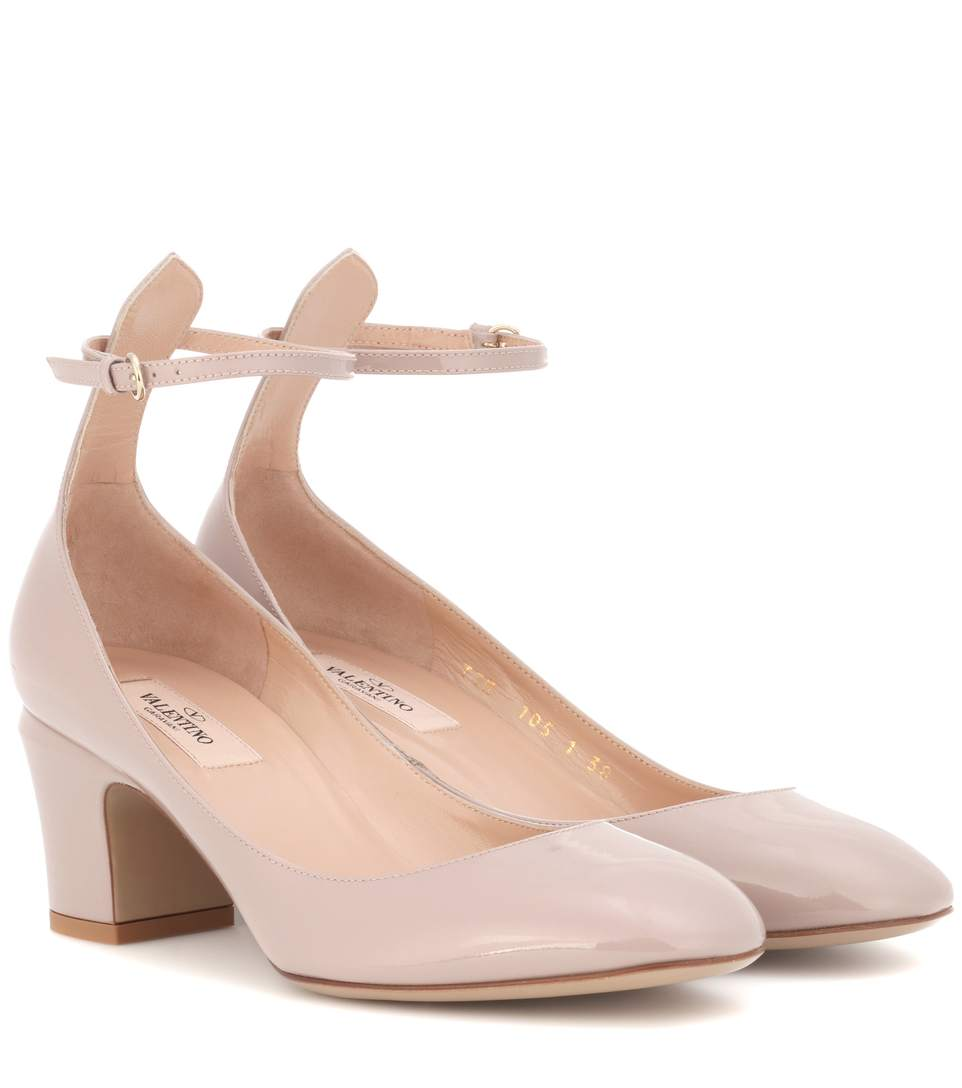 TAN-GO PATENT LEATHER PUMPS