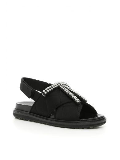 Marni Crystals Fusbett Sandals