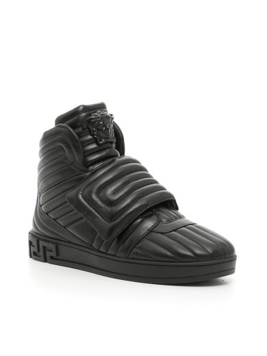 Medusa quilted leather high-top trainers