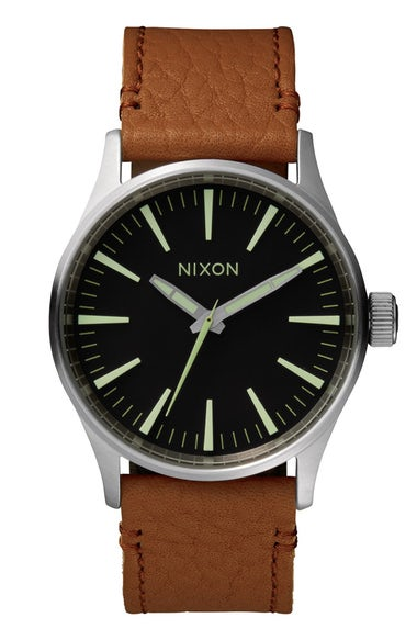 Nixon Watches 'The Sentry 38' Leather Strap Watch, 38mm