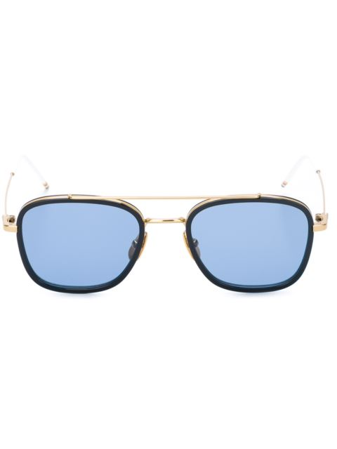 b329b6951b9 Thom Browne Eyewear Navy   18K Gold Sunglasses - Blue