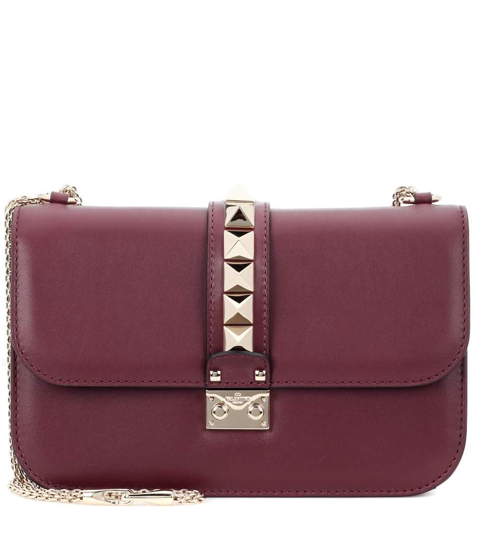valentino garavani lock medium leather shoulder bag. Black Bedroom Furniture Sets. Home Design Ideas