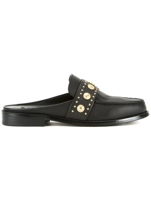 Ciara leather backless loafers