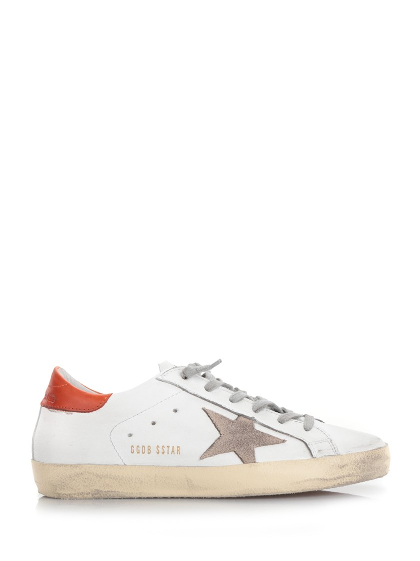White and red 'Super Star' Sneakers