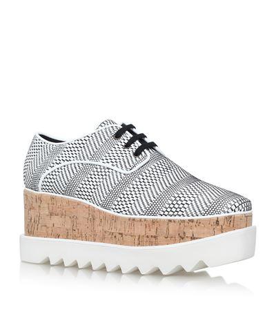 Stella Mccartney Leathers Elyse Geometric Platform Shoes