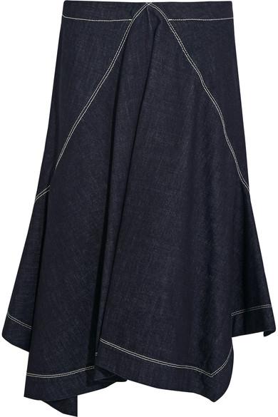 Marni Denims Asymmetric denim skirt