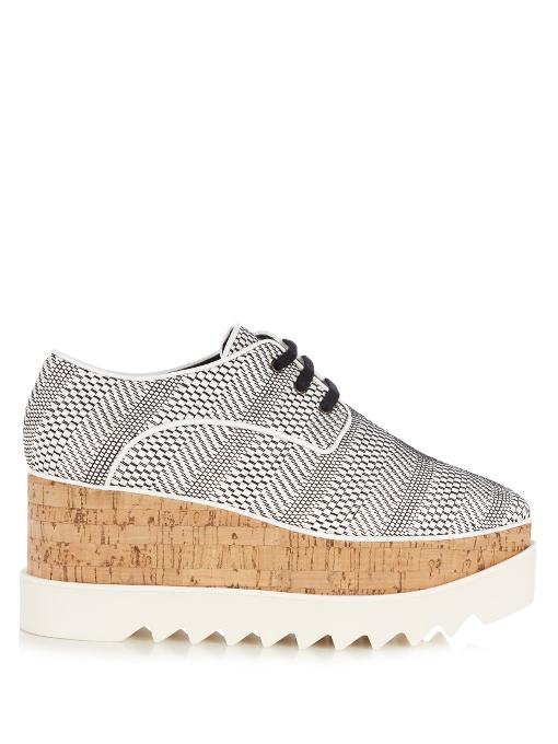 Stella Mccartney Leathers Elyse lace-up platform shoes