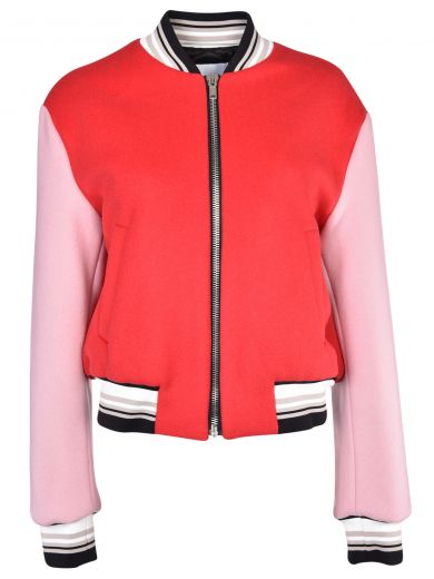 Msgm Bomber jackets Msgm Embroidered Cropped Bomber